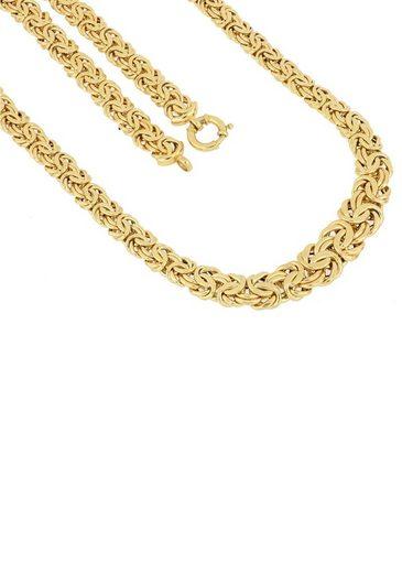 Firetti Goldkette »Prächtige Königskettengliederung, 10,5 mm - 15,2 mm breit im Verlauf«