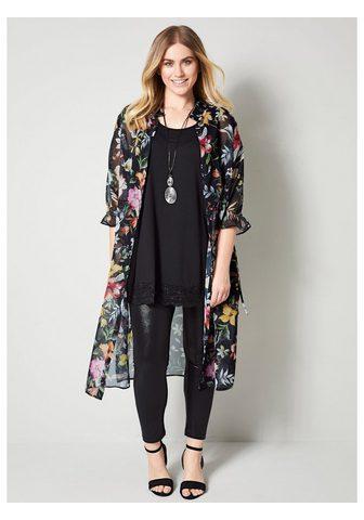 Sara Lindholm by HAPPYsize Ilgi marškiniai su Blumendessin
