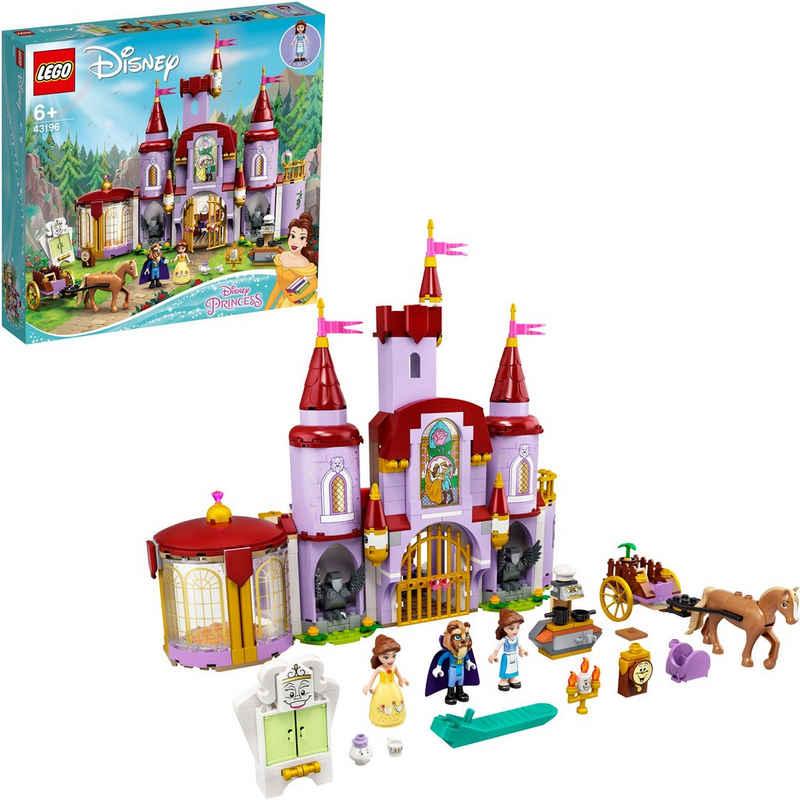 LEGO® Konstruktionsspielsteine »Belles Schloss (43196), LEGO® Disney Princess™«, (505 St), Made in Europe