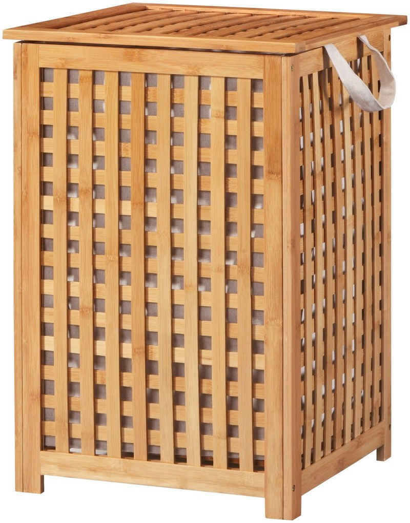 welltime Wäschekorb »Bambus«, 40 cm breit