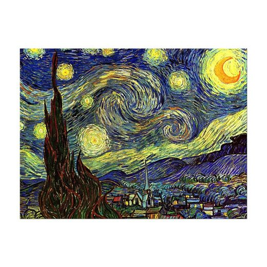 Bilderdepot24 Leinwandbild, Leinwandbild - Vincent van Gogh - Sternennacht