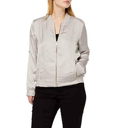 OPUS Outdoorjacke »OPUS HARVEY SATIN Übergangs-Jacke bequeme Damen Outdoor-Jacke mit Jersey-Bündchen Freizeit-Jacke Sand«