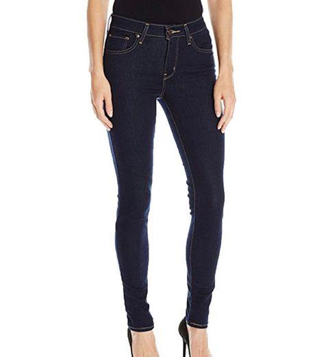 Levi's® Regular-fit-Jeans »LEVI´S 721 High Rise Skinny Jeans elastische Damen Denim-Hose im Five-Pocket-Style Freizeit-Hose Blau«