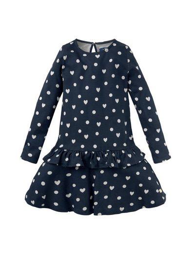 TOM TAILOR A-Linien-Kleid »Gemustertes Kleid mit Volant«
