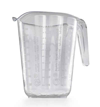 DanDiBo Messbecher »Messbecher 1l Kunststoff Transparent Messkanne Füllvolumen 1 Liter Literbecher«, Kunststoff