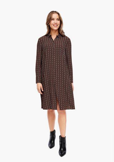 TRIANGLE Minikleid »Crêpe-Kleid mit modischem Print«