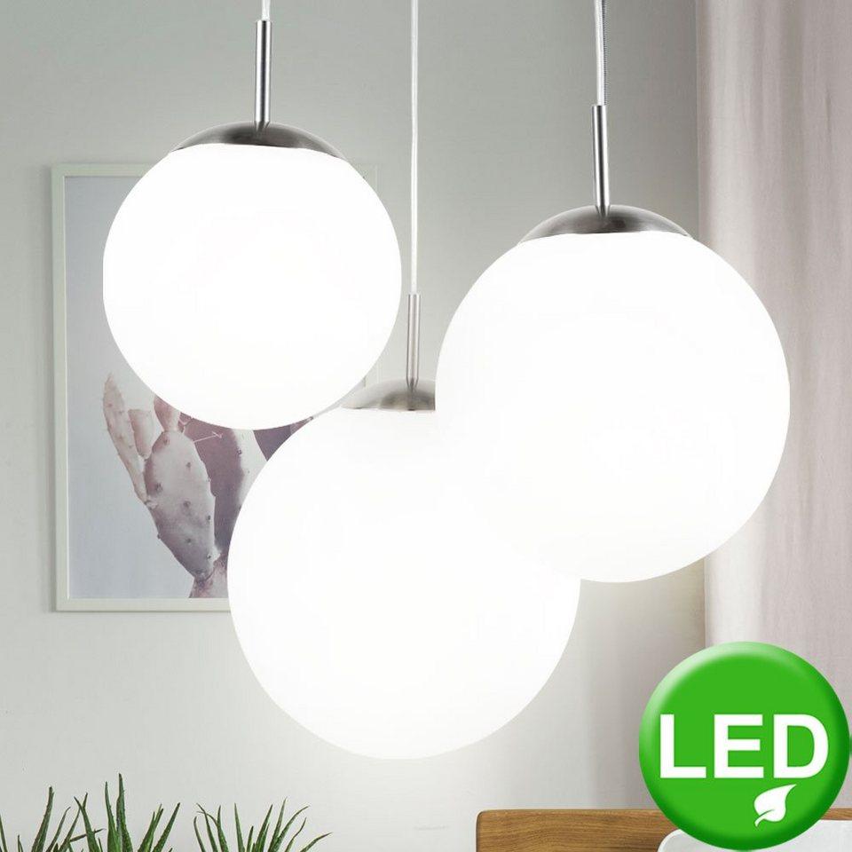 Decken Lampe Kugel-Design Leuchte Chrom blau Beleuchtung Schlaf Zimmer Küche