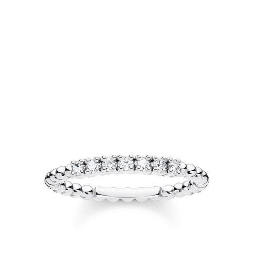 THOMAS SABO Fingerring »TR2323-051-14 Ring Damen Kugeln Weiße Steine Silber Gr. 48«
