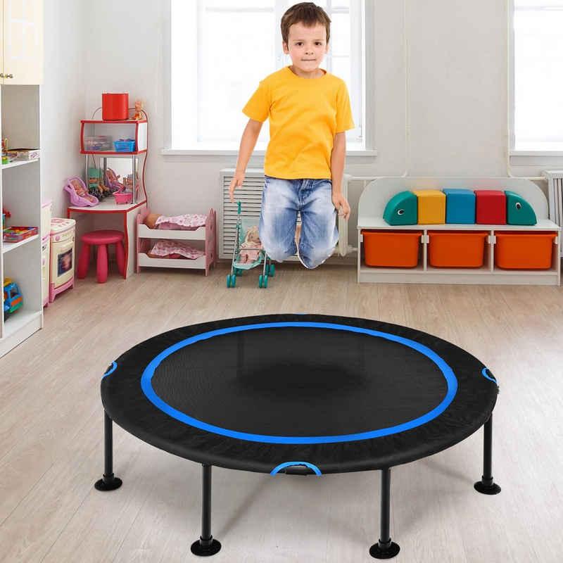 COSTWAY Kindertrampolin »Mini Trampolin, Fitness Trampolin, Gartentrampolin«, φ 120 cm, bis 65kg belastbar, Indoor- und Outdoortrampolin