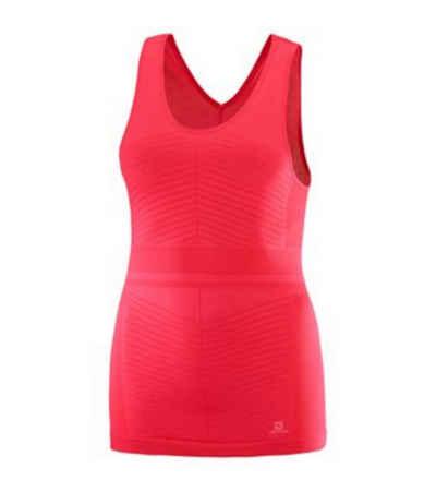 Salomon Laufshirt »Salomon Elevate Move On Lauf-Shirt funktionelles Damen Fitness Tank Top Trainings-Shirt Pink«