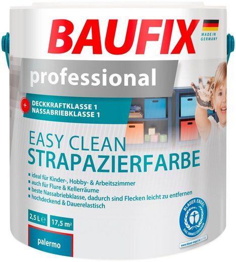BAUFIX Wand- und Deckenfarbe »professional Easy Clean«, Strapazierfarbe blau, 2,5 L