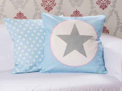 Krasilnikoff Kissenhülle »Krasilnikoff Kissenhülle Stern NEW BIG STAR Blau 50x50«