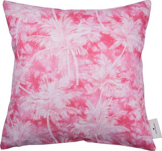 Kissenhülle »Pink Palm«, TOM TAILOR (1 Stück), mit feinen Palmenmotiven