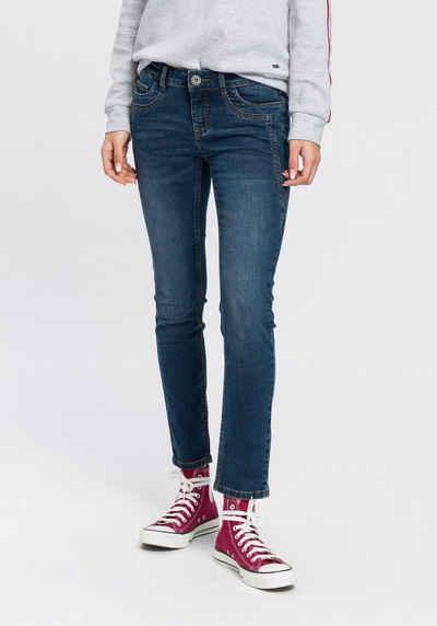 Arizona 7/8-Jeans »mit Keileinsätzen« Low Waist