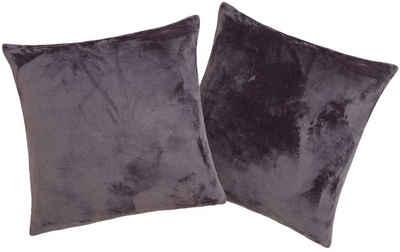 Kissenhüllen »Jil«, my home (2 Stück), aus super weichem Kuschelfleece