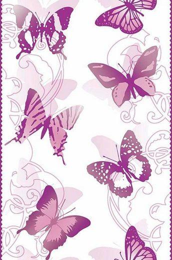living walls Bordüre »pop.up Panel«, glatt, Borte mit Schmetterlingen Kinderzimmer, selbstklebend