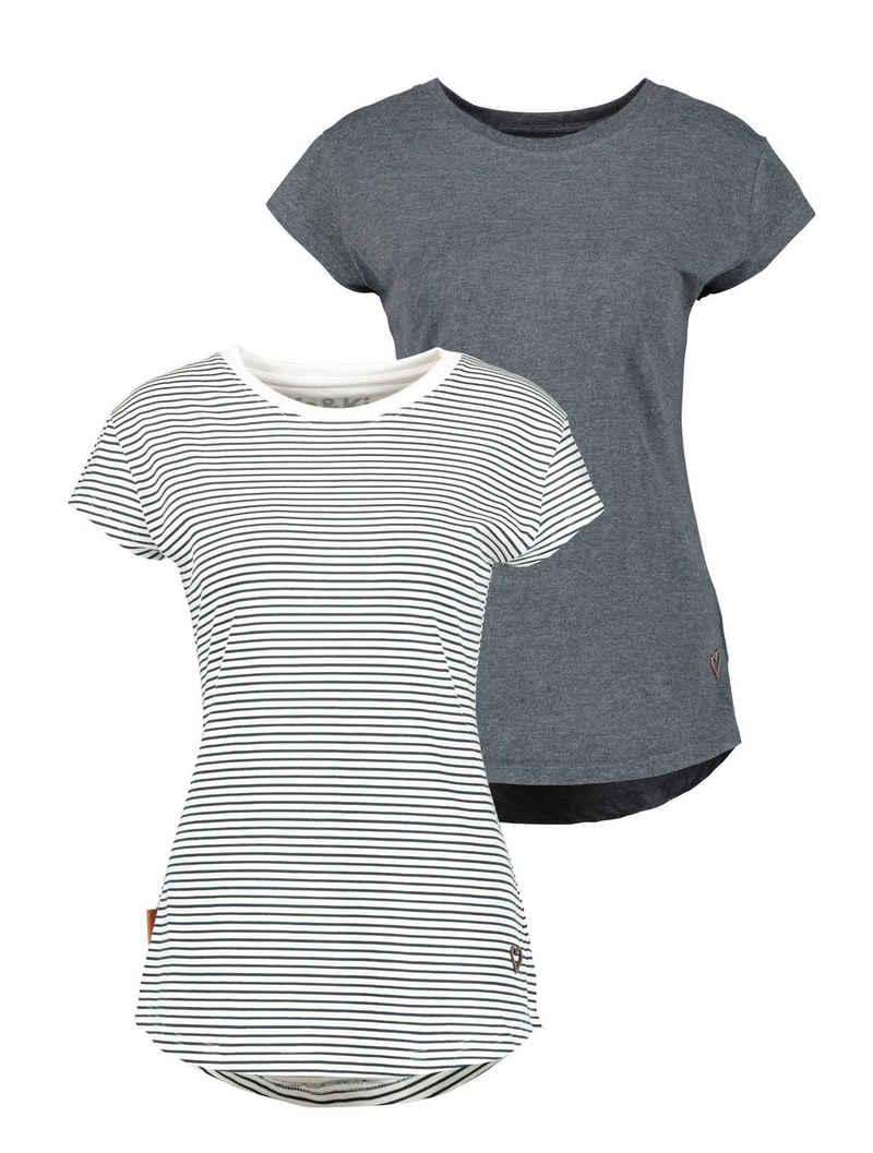 Alife & Kickin Rundhalsshirt »MimmyAK 2P« (2er-Pack) modische Basic-Shirts im Doppelpack