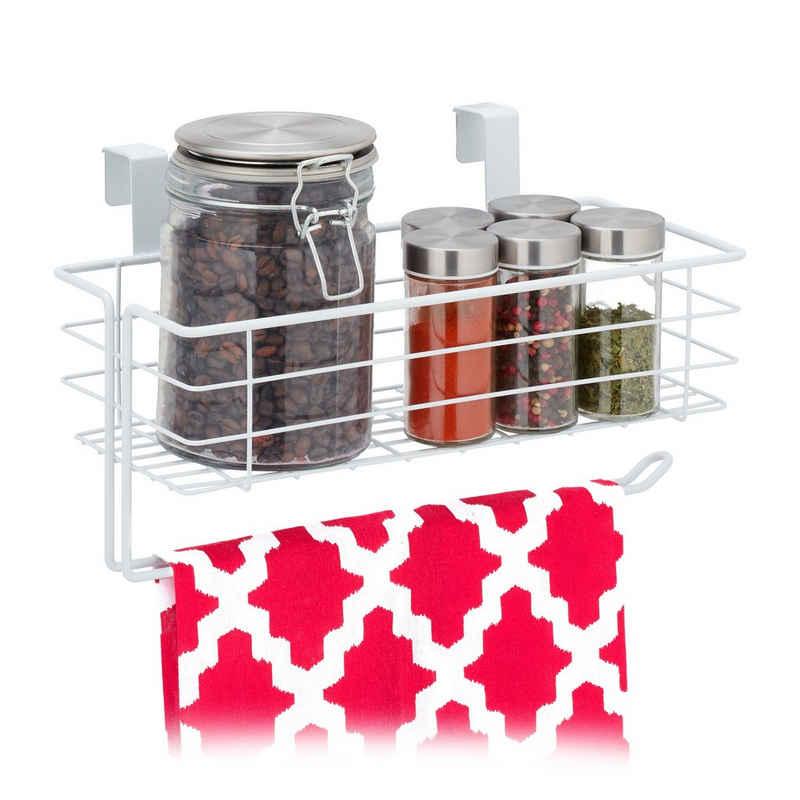 relaxdays Einhängekorb »Einhängekorb mit Küchenrollenhalter«