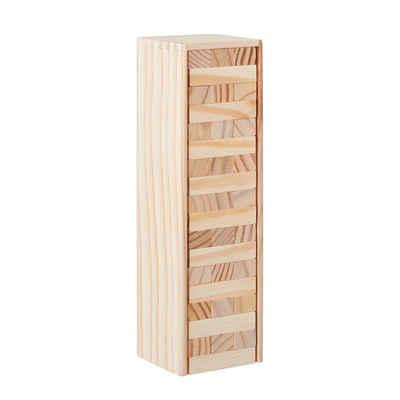 relaxdays Stapelspielzeug »Wackelturm Holz«