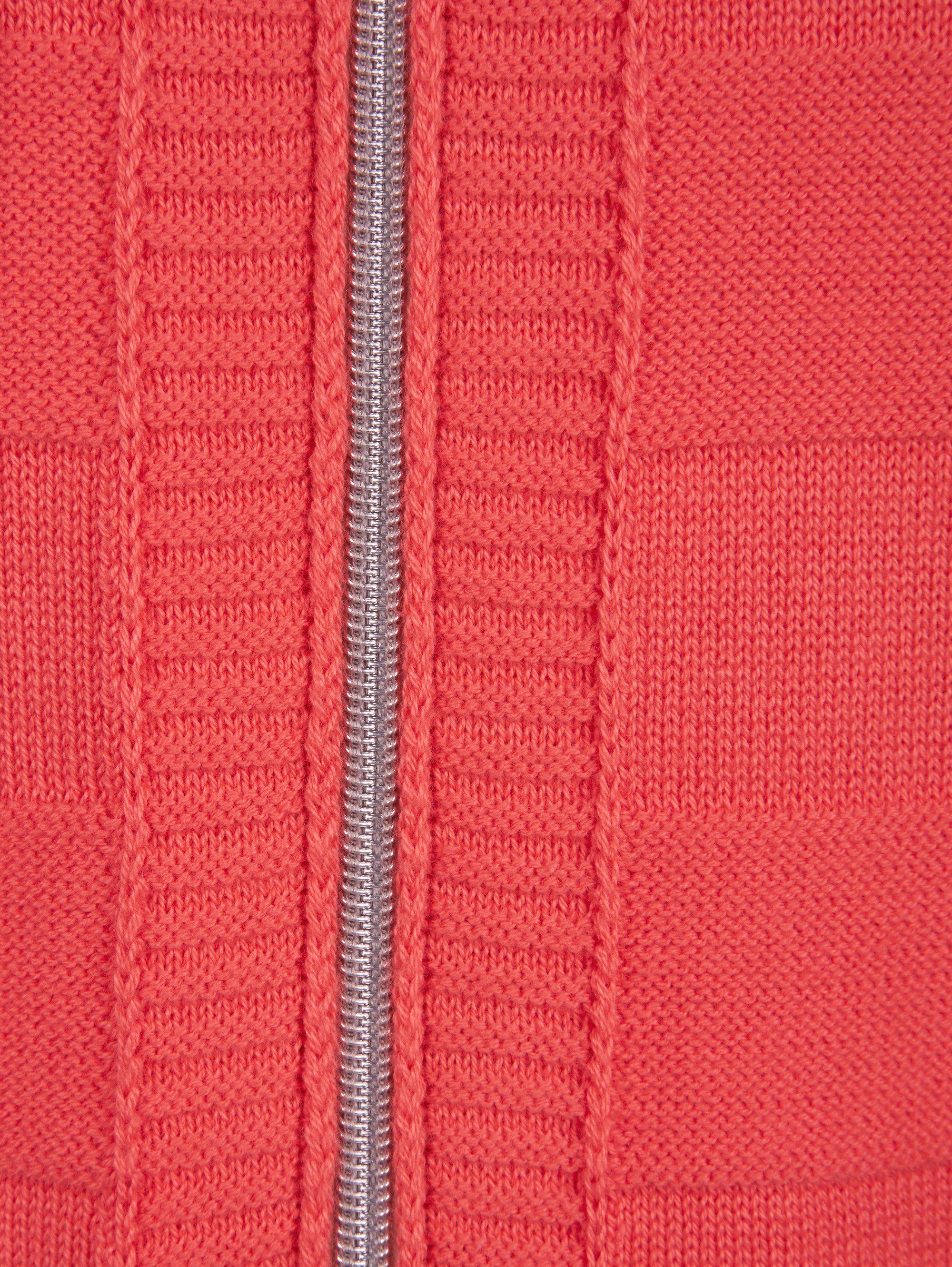 Mona Strickjacke Im Blousonstil, Dezentes Streifenstrick-muster Online Kaufen