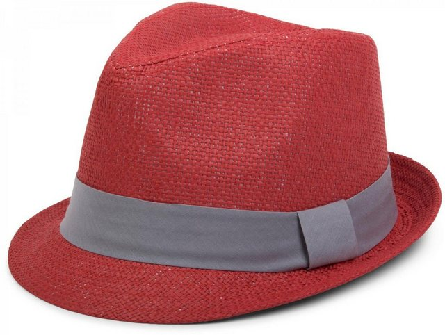 styleBREAKER Trilby »Trilby Hut mit farbigem Zierband« Trilby Hut mit farbigem Zierband   Accessoires > Hüte > Trilbys   styleBREAKER