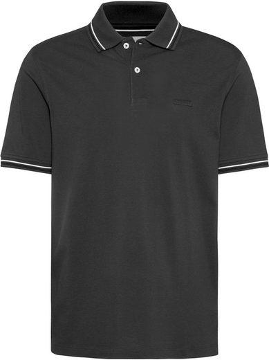 bugatti Poloshirt mit Kontraststreifen