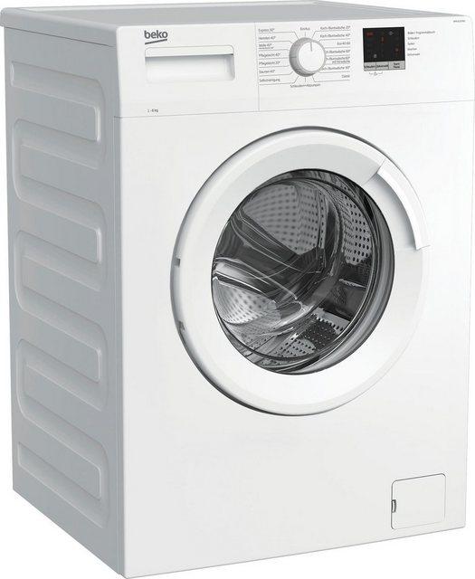 BEKO Waschmaschine WML61223N1, 6 kg, 1200 U min, LED-Display