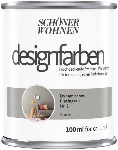 SCHÖNER WOHNEN-Kollektion Wand- und Deckenfarbe »Designfarben«, hochdeckend, Dynamisches Platingrau, matt, 0,1 l