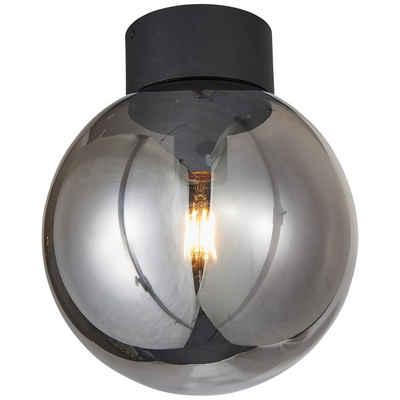 Brilliant Leuchten Deckenleuchte »Astro«, Deckenlampe 25cm schwarz/rauchglas
