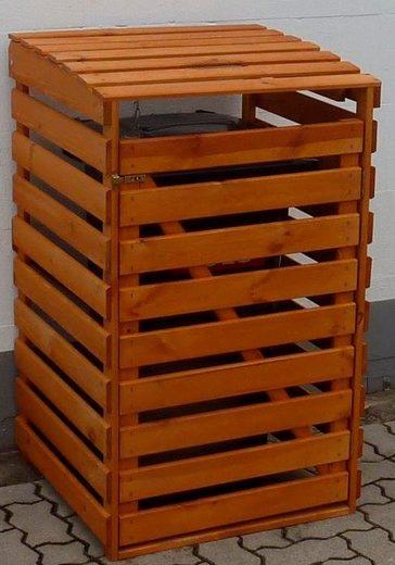 promadino Mülltonnenbox, für 1x120 l aus Holz, BxTxH: 68x63x111 cm