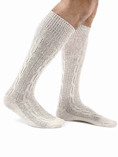 Almbock Trachtensocken »Trachten Socken lang« (1-Paar) naturfarben