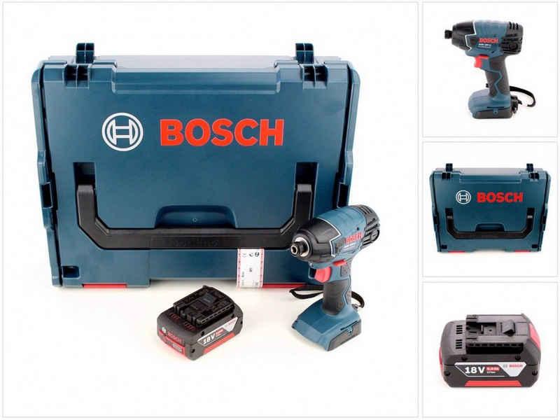 """Bosch Professional Akku-Schlagschrauber »Bosch GDR 18 V-LI Akku Drehschlagschrauber 18V 160Nm 1/4"""" + 1x Akku 5,0Ah in L-Boxx - ohne Ladegerät«"""