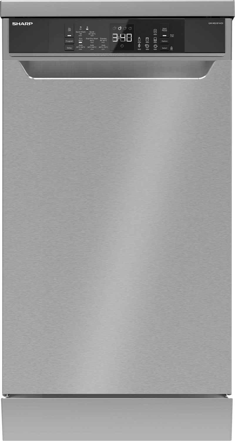 Sharp Standgeschirrspüler, QW-NS24F44DI-DE, 10 Maßgedecke