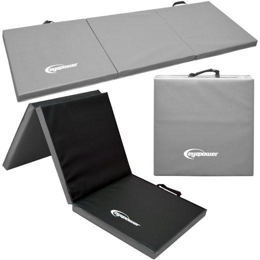 eyepower Fitnessmatte »XL Gymnastikmatte Sport-, Turn- und Bodenmatte«, Weichbodenmatte grau