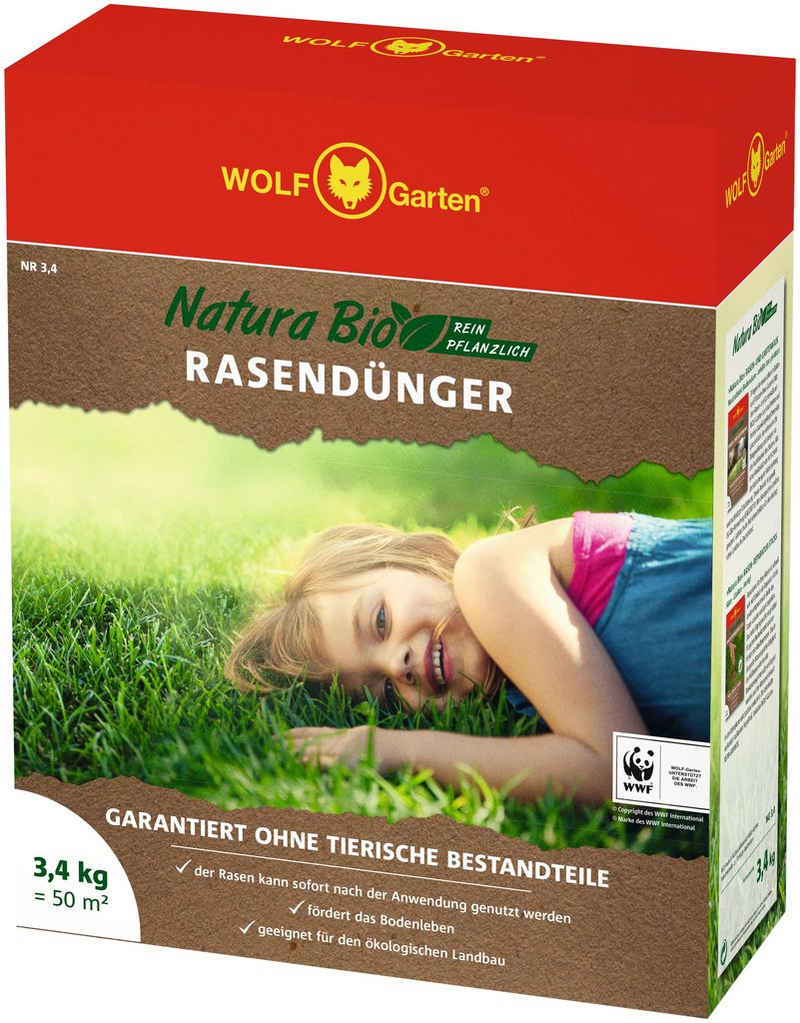 WOLF-Garten Rasendünger »Natura Bio«, Granulat, verschiedene Gebindegrößen