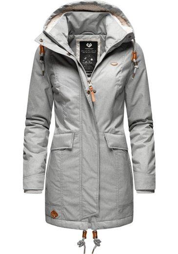 Ragwear Winterjacke »Tunned« stylischer Winterparka mit Teddyfell Innenfutter