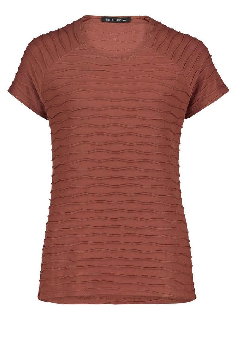 Betty Barclay T-Shirt »mit Wellenstruktur« Flatlock