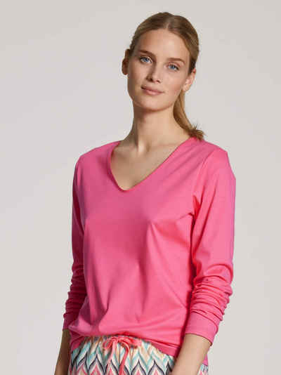 CALIDA Pyjamaoberteil »Langarm-Shirt, V-Neck« (1-tlg)