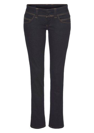 Pepe Jeans Straight-Jeans »VENUS« mit 2-Knopf Bund und doppelter Gesäßtasche