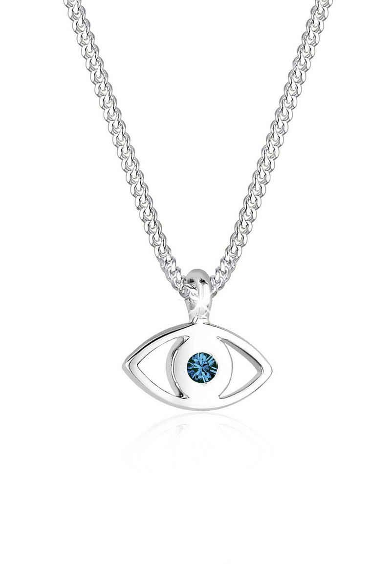 Elli Collierkettchen »Evil Eye Kristalle 925 Sterling Silber«