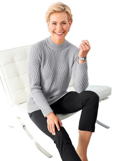 Classic Basics Pullover mit überzeugendem Strickmuster vorne