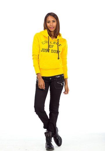 Cipo & Baxx Kapuzensweatshirt mit Stepptasche