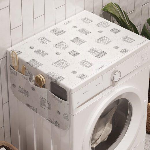 Abakuhaus Badorganizer »Anti-Rutsch-Stoffabdeckung für Waschmaschine und Trockner«, Jahrgang Gezeichnet Windows-Architektur