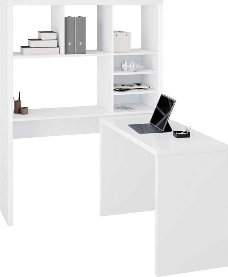 HMW Collection Regal-Schreibtisch »Silas«, Regal und beweglicher Schreibtisch