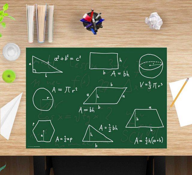 cover-your-desk.de Schreibtischaufsatz »Schreibtischunterlage für Kinder und Schüler - Mathematik - 60 x 40 cm – aus hochwertigem Vinyl«| (1-St) | Kinderzimmer > Kindertische > Kinderschreibtische | cover-your-desk.de