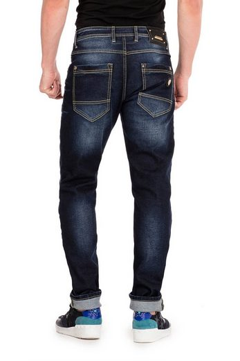 Cipo & Baxx Slim-fit-Jeans »Anton« im Washed-Look in Straight Fit