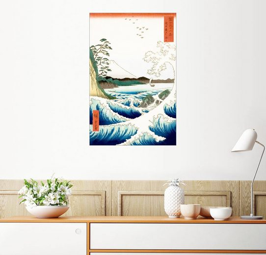 Posterlounge Wandbild, Meer bei Satta in der Provinz Suruga