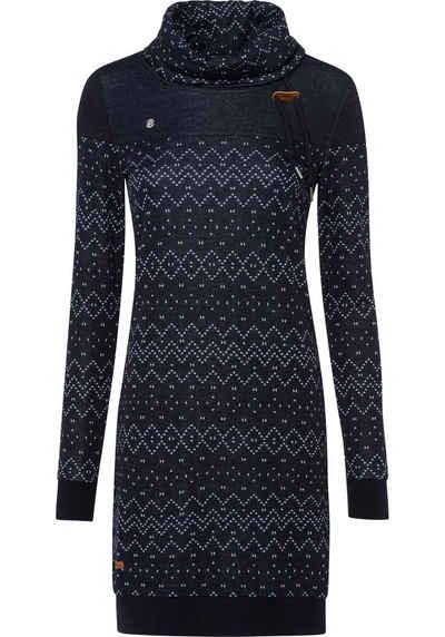 Ragwear Sweatkleid »CHLOE DRESS« Urban Streetwear Style mit Norweger-Allover-Print