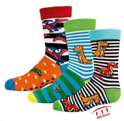 Socks 4 Fun Freizeitsocken »Socks 4 Fun Kindersocken Vollfrottee & ABS im 3er Pack« (3-Paar, 3 Paar)