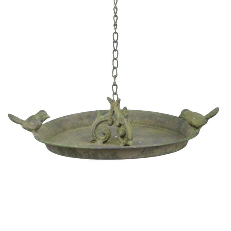 esschert design Vogeltränke »Vogel Tränke zum hängen Futterstation Ø24cm grün Bad Garten Metall Wasser Schale«